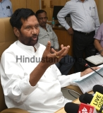Press Conference Of Union Minister For Consumer Affairs, Food And Public Distribution Ram Vilas Paswan