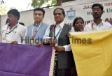 Members Of Weavers United JAC Protest To Support Weaver Suicide Victims