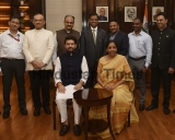 Union Finance Minister Nirmala Sitharaman With Her Team Ahead Of Presentation Of The Annual Budget