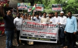 Congress Party Workers Protest Against Fuel Hike, Wall Collapse Cases And Various Problems