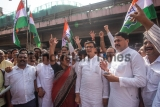 Congress Activists And Supporters Protest Over The Detention Of Priyanka Gandhi Vadra In Uttar Pradesh