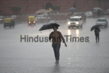 Rain In Delhi Causes Waterlogging, Traffic Jams