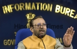 Press Conference Of Union Information And Broadcasting Minister Prakash Javadekar