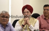 Press Conference Of Union Housing And Urban Affairs Minister Hardeep Singh Puri