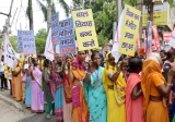 Women March In Patna Protest Against Atrocities On Women Issues