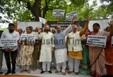 BJP Leaders Lead Protest By Unauthorized Colony Maha Sangh