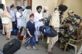 Sikh Pilgrims Leave For Pakistan To Visit Nanakana Sahib Country To Celebrate Sikhism Founder Guru Nanak Dev's 550th Birth Anniversary