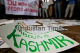 Left Students Unions Protest Against Abrogation Of Article 370 And Article 35A In Jammu And Kashmir