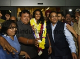 World Champion PV Sindhu Get Grand Welcome At IGI Airport Delhi