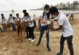 Around 250 Students Participated In Beach Cleanup Drive To Support BMC
