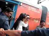 Starcast Of 'Housefull 4' Arrives At New Delhi Railway Station Travel By A Special Promotional Train For The Movie Promotion