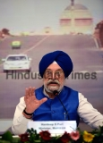 Press Conference Of Union Urban Affairs Minister Hardeep Puri At Airports Authority Of India Officers Institute