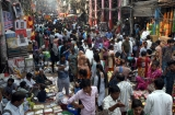 People Shop For Diwali Festival Preparations