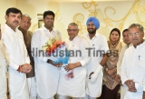 Jannayak Janata Party Chief Dushyant Chautala Meets Party Leaders At His Residence