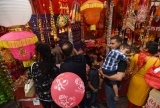 People Shop For The Diwali Festival Celebrations