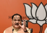 BJP Working President JP Nadda Addresses A Press Conference On Jharkhand Assembly Election