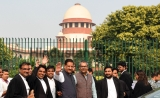 Congress Leaders Address A Press Conference After A Hearing At Supreme Court Over The Formation Of Maharashtra Government