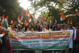 Population Solution Foundation Organizes A Protest Demanding A Population Control Law