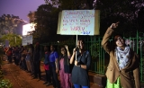 JNU Students Form Human Chain To Protest Fee Hike