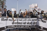 BJP Yuva Morcha Protest Against Delhi Chief Minister Arvind Kejriwal's Government Over The Water Issues