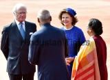 Ceremonial Reception Of Swedish King Carl XVI Gustaf And Queen Silvia