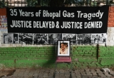 People Demonstrate To Commemorate The 35th Anniversary Of Bhopal Gas Tragedy
