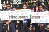 HMSI Retrenched Contractual Workers Hold Protest March To Raise Their Demands In Gurugram