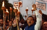 Delhi BJP Took OUt A Torch March Against AAP Over Various Issues