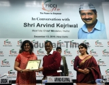 Delhi Chief Minister Arvind Kejriwal Attends FICCI FLO 'Interactive Session With Chief Minister, Delhi'