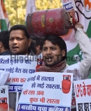 Congress Protest Against LPG Cylinder Price Hike