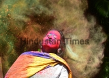 People Celebrate Holi Festval